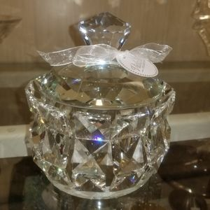 Vidall Collection Accents - Crystal Candy  Dish 4inches tall